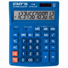 Калькулятор настольный STAFF STF-444-12-BU (199x153 мм), 12 разрядов, двойное питание, СИНИЙ, 250463