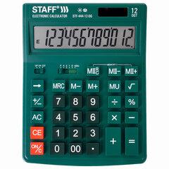 Калькулятор настольный STAFF STF-444-12-DG (199x153 мм), 12 разрядов, двойное питание, ЗЕЛЕНЫЙ, 250464