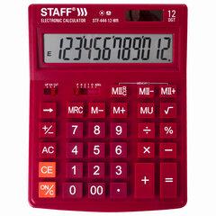 Калькулятор настольный STAFF STF-444-12-WR (199x153 мм), 12 разрядов, двойное питание, БОРДОВЫЙ, 250465