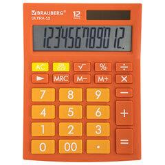 Калькулятор настольный BRAUBERG ULTRA-12-RG (192x143 мм), 12 разрядов, двойное питание, ОРАНЖЕВЫЙ, 250495