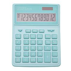 Калькулятор настольный CITIZEN SDC-444GNE (204х155 мм), 12 разрядов, двойное питание, БИРЮЗОВЫЙ