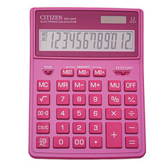 Калькулятор настольный CITIZEN SDC-444PKE (204х155 мм), 12 разрядов, двойное питание, РОЗОВЫЙ