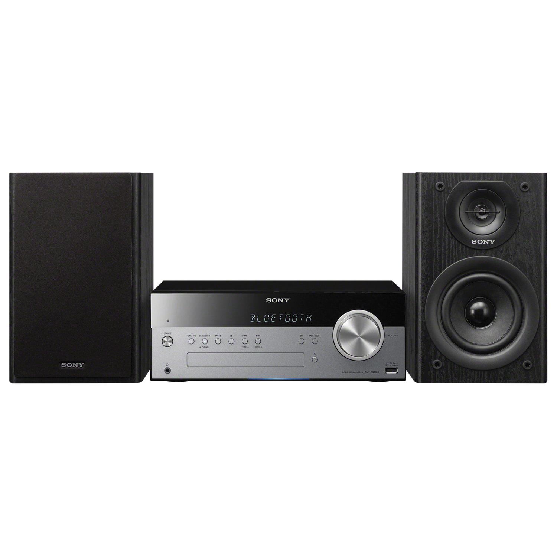 Музыкальный центр SONY CMT-SBT100, CD, MP3, AAC, WMA, USB, AM/FM-тюнер, выходная мощность 50 Вт, черный