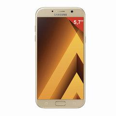 "Смартфон SAMSUNG Galaxy A7, 2 SIM, 5,7"", 4G (LTE), 16/16 Мп, 32 ГБ, microSD, золотой, сталь и стекло"