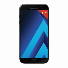 "Смартфон SAMSUNG Galaxy A7, 2 SIM, 5,7"", 4G (LTE), 16/16 Мп, 32 ГБ, microSD, черный, сталь и стекло"