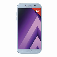 "Смартфон SAMSUNG Galaxy A7, 2 SIM, 5,7"", 4G (LTE), 16/16 Мп, 32 ГБ, microSD, голубой, сталь и стекло"
