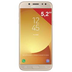 "Смартфон SAMSUNG Galaxy J5, 2 SIM, 5,2"", 4G (LTE), 13/13 Мп, 16 ГБ, microSD, золотой, металл и стекло (2017)"
