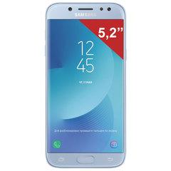 "Смартфон SAMSUNG Galaxy J5, 2 SIM, 5,2"", 4G (LTE), 13/13 Мп, 16 ГБ, microSD, голубой, металл и стекло (2017)"