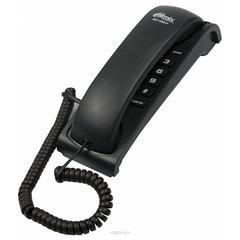 Телефон RITMIX RT-007 black, световая индикация звонка, мелодия удержания, черный