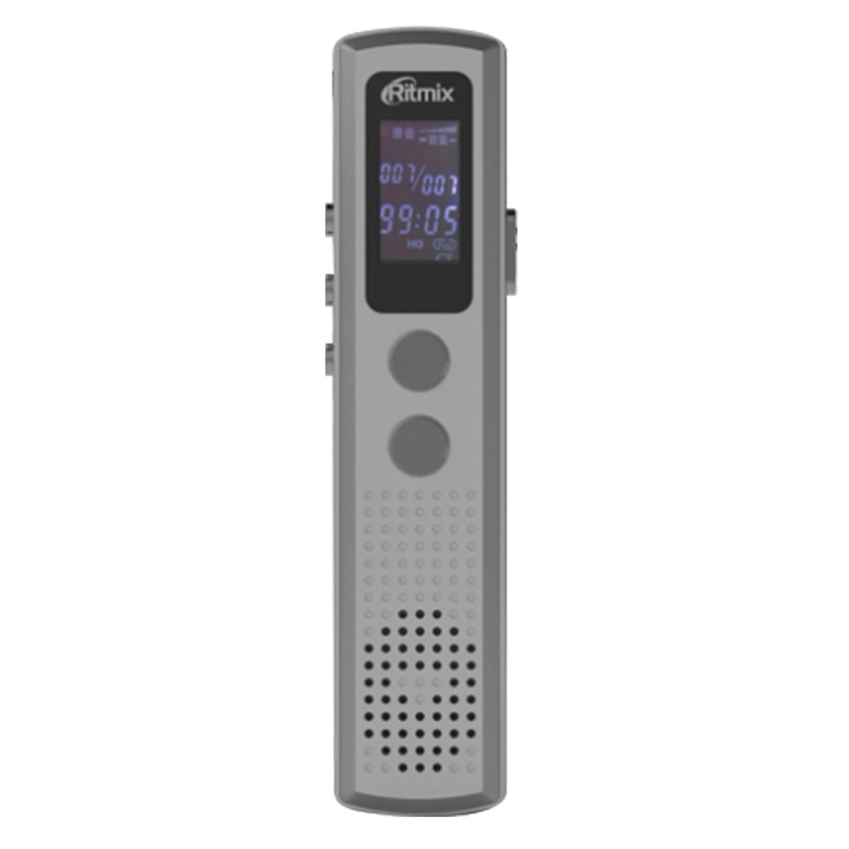 Диктофон цифровой RITMIX RR-120, память 4 Gb, запись до 1165 ч, битрейт до 192 кбит/с