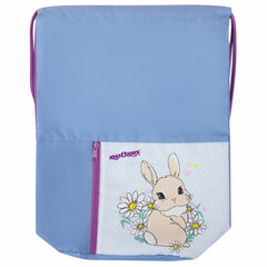 "Сумка для обуви ЮНЛАНДИЯ, на шнурке, карман на молнии, 33х42 см, ""Cute Rabbit"", 270406"