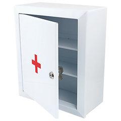 """Шкафчик-аптечка металлический """"Призма"""", навесной, 2 полки, ключевой замок, 330x280x140 мм"""