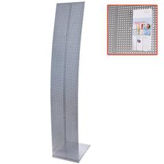 Стойка напольная для рекламных материалов (160х30х36 см), без лотков, хром, ПАРУС-1, (лотки 290443-290445)