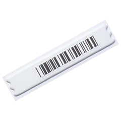 Этикетки противокражные акустомагнитные DR, комплект 5000 шт., 10х44 мм, ложный штрихкод, белые