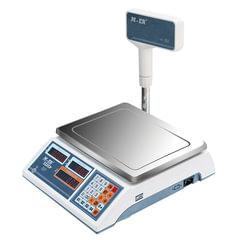 Весы торговые MERCURY M-ER 322ACPX-15.2 LED (0,04-15 кг), дискретность 5 г, платформа 315x235 мм, со стойкой