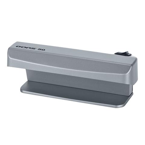 Детектор банкнот DORS 50, просмотровый, УФ-детекция, серый