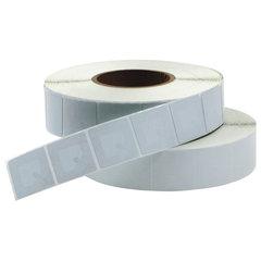 Этикетки самоклеящиеся противокражные радиочастотные, 40х40 мм, белые, рулон 1000 шт.