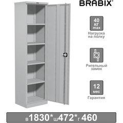 """Шкаф металлический офисный BRABIX """"MK 18/47/46-01"""", 1830х472х460 мм, 30 кг, 4 полки, разборный, 291139"""