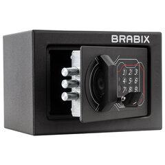 """Сейф мебельный BRABIX """"SF-140EL"""", 140х195х140 мм, электронный замок, черный, 291141"""