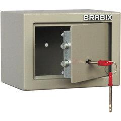 """Сейф мебельный BRABIX """"D-14m"""", 145х200х150 мм, 3 кг, ключевой замок, крепление к стене, 291160"""