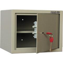 """Сейф мебельный BRABIX """"D-24m"""", 240х310х260 мм, 7 кг, ключевой замок, крепление к стене, 291162"""