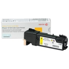 Тонер-картридж XEROX (106R01483) Color Phaser 6140, желтый, оригинальный, ресурс 2000 стр.