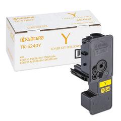 Тонер-картридж KYOCERA (TK-5240Y) P5026cdn/w/M5526cdn/w, ресурс 3000 стр., цвет желтый, оригинальный