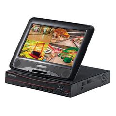 """Видеорегистратор гибридный с дисплеем 10"""", FALCON EYE FE-1104COMBO-AHD, 4-х канальный, аудио, 3G, черный"""