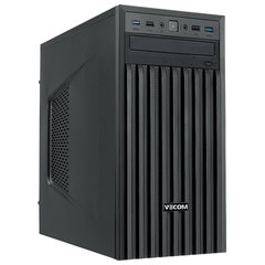 Системный блок VECOM T604 MT, INTEL Core i3-8100, 4 ГБ, 500 ГБ, DVD-RW, DOS, черный
