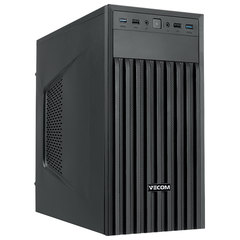 Системный блок VECOM T610 MT, INTEL Core i3-8100, 4 ГБ, SSD 120 ГБ, DOS, черный