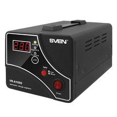 Стабилизатор напряжения SVEN VR-A1000,1000ВА/600 Вт, 1 розетка, входное напряжение 140-275 В, SV-014407