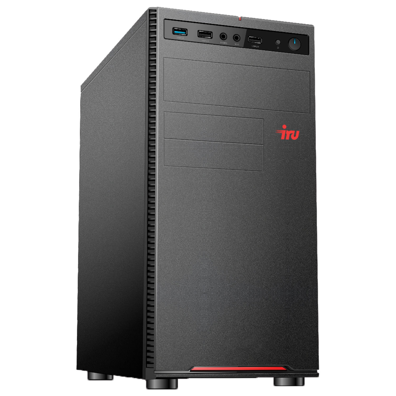 Системный блок IRU 317MT INTEL Core i7-8700 4,6 ГГц, 8 ГБ, SSD 480 ГБ, Windows 10 PRO, черный