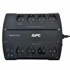Источник бесперебойного питания APC Back-UPS ES BE550G-RS 550 VA (330 W), 8 розеток CEE 7, черный