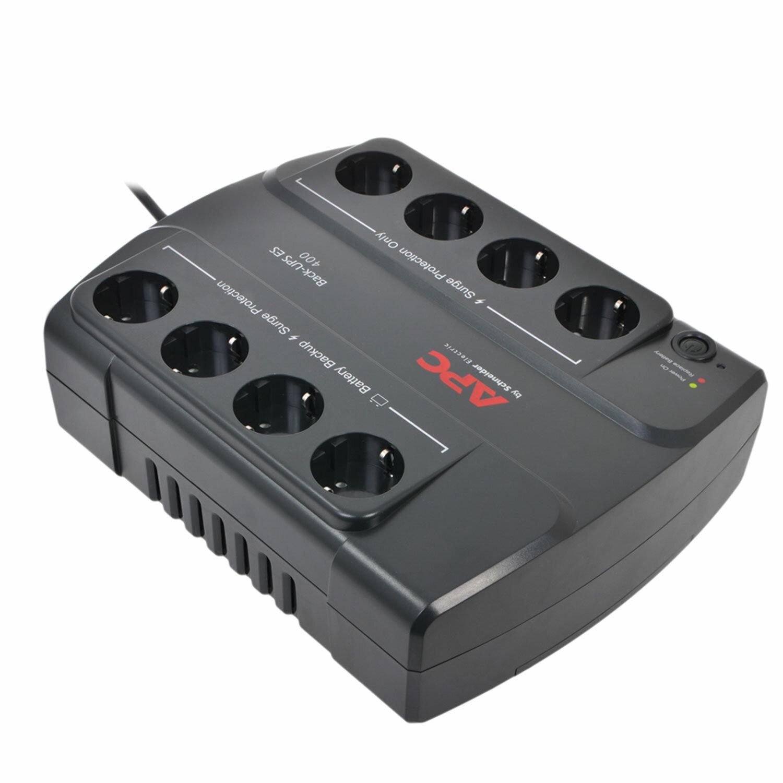Источник бесперебойного питания APC Back-UPS BE400-RS, 400 VA (240 W), 8 розеток CEE 7, черный