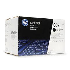 Картридж лазерный HP (CE505XD) HP LaserJet P2055, №05X, КОМПЛЕКТ 2 шт., оригинальный, ресурс 2 х 6500 страниц