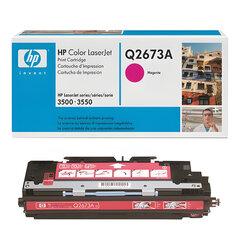 Картридж лазерный HP (Q2673A) ColorLaserJet 3500/3550/3700, пурпурный, оригинальный, ресурс 4000 стр.