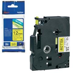 Картридж для принтеров этикеток BROTHER TZE-631, 12 мм х 8 м, чёрный шрифт, желтый фон, ламинированная