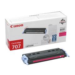 Картридж лазерный CANON (707M) LBP5000/5100, пурпурный, оригинальный, ресурс 2000 стр.