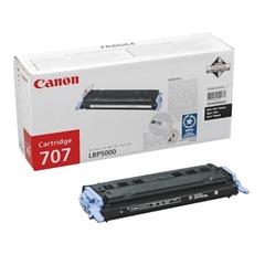 Картридж лазерный CANON (707BK) LBP5000/5100, черный, оригинальный, ресурс 2500 стр.