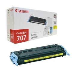 Картридж лазерный CANON (707Y) LBP5000/5100, желтый, оригинальный, ресурс 2000 стр.