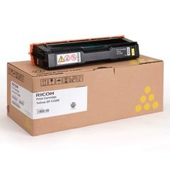 Картридж лазерный RICOH (407643) SPС220S/C221SF и другие, желтый, оригинальный, ресурс 2000 стр.