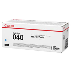 Картридж лазерный CANON (040С) i-SENSYS LBP710Cx/LBP712Cx, оригинальный, голубой, ресурс 5400 страниц