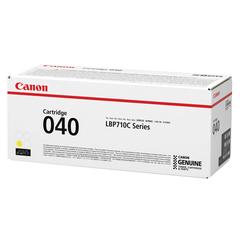 Картридж лазерный CANON (040Y) i-SENSYS LBP710Cx/LBP712Cx, оригинальный, желтый, ресурс 5400 страниц