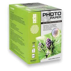 Фотобумага для струйной печати 10x15 см, 230 г/м2, 500 листов, односторон. глянцевая, CACTUS CS-GA6230500