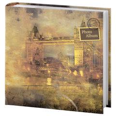"""Фотоальбом BRAUBERG на 200 фотографий 10х15 см, твердая обложка, """"Тауэр"""", бумажные страницы, бокс, оранжевый, 390677"""