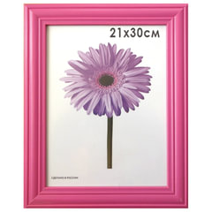 "Рамка премиум 21х30 см, дерево, багет 26 мм, ""Linda"", малиновая, 0065-8-0020"