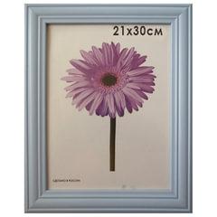 "Рамка премиум 21х30 см, дерево, багет 26 мм, ""Linda"", голубая"