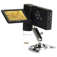 """Микроскоп цифровой LEVENHUK DTX 500 Mobi, 20-500 кратный, 3"""" ЖК-монитор, камера 5 Мп, microSD, портативный, 61023"""