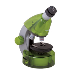 Микроскоп детский LEVENHUK LabZZ M101 Lime, 40-640 кратный, монокулярный, 3 объектива, 69034
