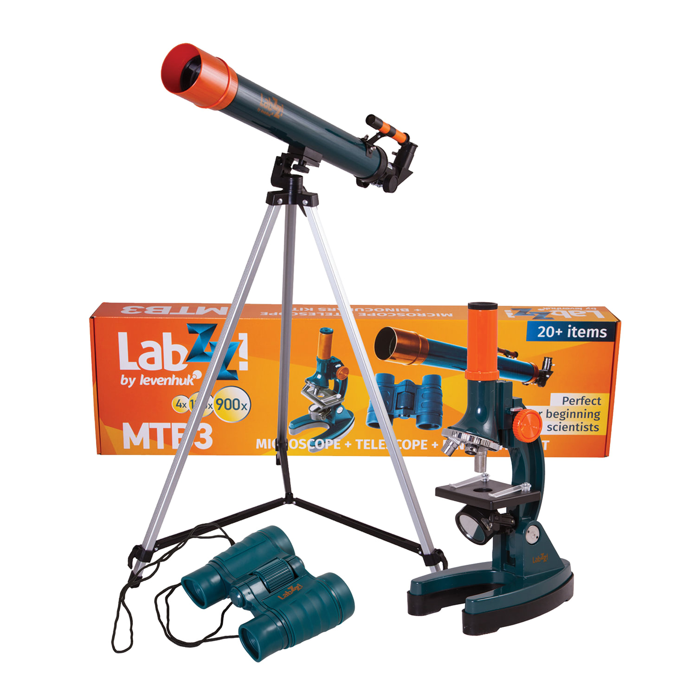 Набор LEVENHUK LabZZ MTВ3: микроскоп 150-900 кратный + телескоп, рефрактор, 2 окуляра+бинокль 6х21, 69698